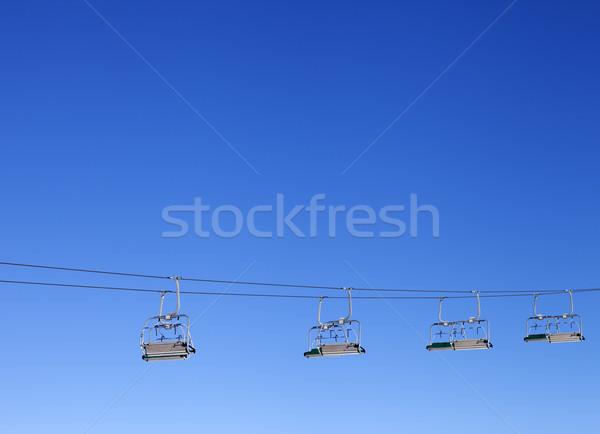 Mavi açık gökyüzü güneş gün araba spor Stok fotoğraf © BSANI