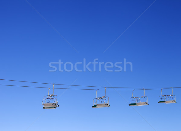 Ski-lift and blue clear sky Stock photo © BSANI