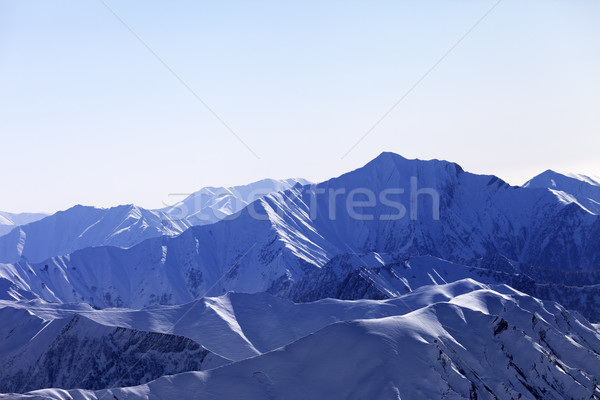 Snow mountains in morning Stock photo © BSANI
