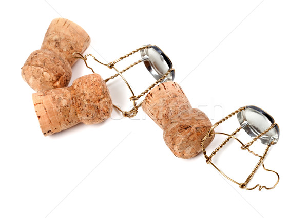 Champagne wine corks and muselets Stock photo © BSANI