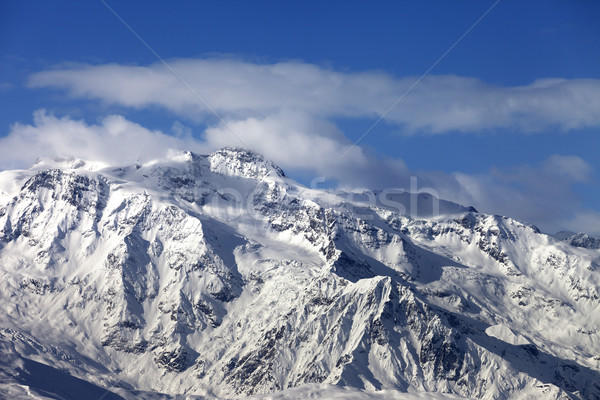 Winter snowy mountains at nice sunny day Stock photo © BSANI