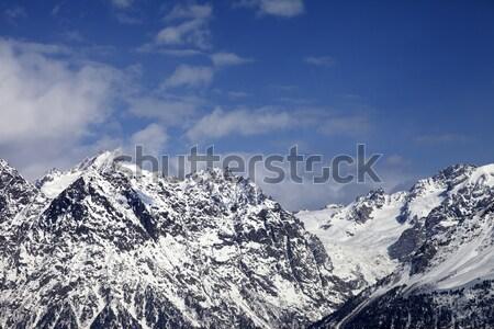 Snowy rocks  at sunny day Stock photo © BSANI