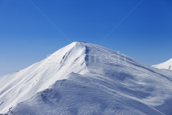 Off piste slope at sun day Stock photo © BSANI