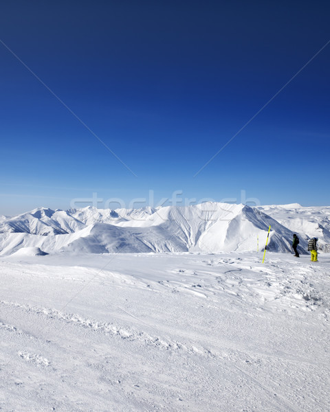 Snowboarders on ski slope Stock photo © BSANI