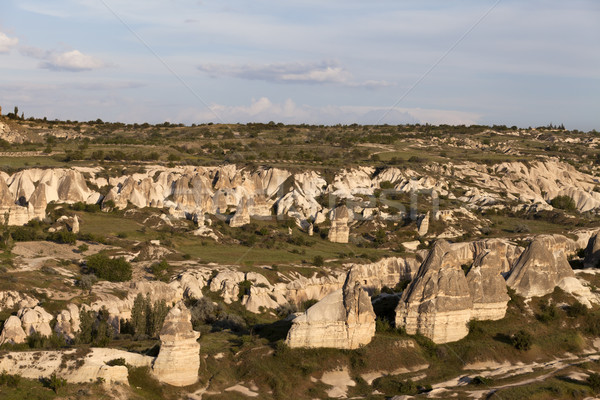 View on evening Cappadocia valley in spring Stock photo © BSANI