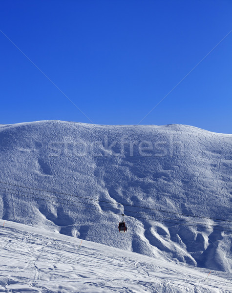 Gondola lift and off-piste slope Stock photo © BSANI