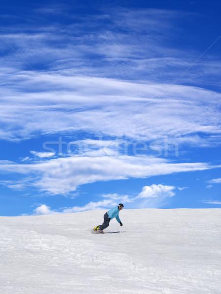 Ciel bleu nuages Nice jour Photo stock © BSANI
