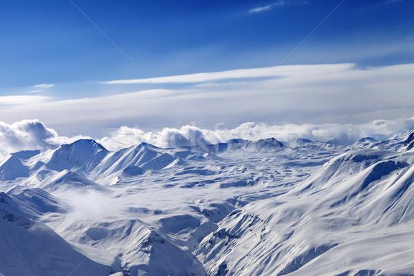 Nieve meseta cielo nubes cáucaso montanas Foto stock © BSANI