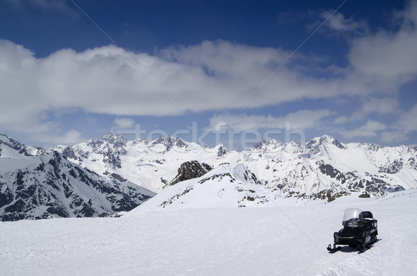 Snowmobile on ski slope Stock photo © BSANI