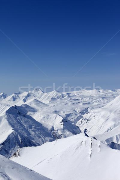 Dağlar kafkaslar Georgia görmek Kayak başvurmak Stok fotoğraf © BSANI