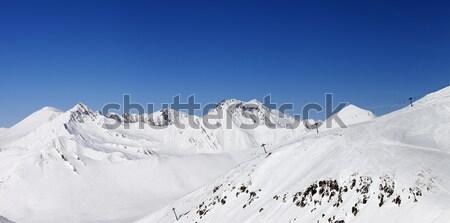 Panorama kar kış dağlar kafkaslar Georgia Stok fotoğraf © BSANI