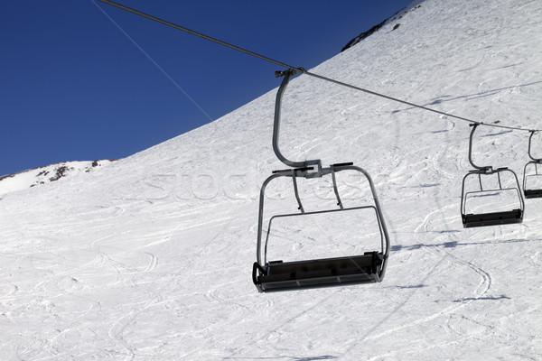 Chair-lift at ski resort Stock photo © BSANI