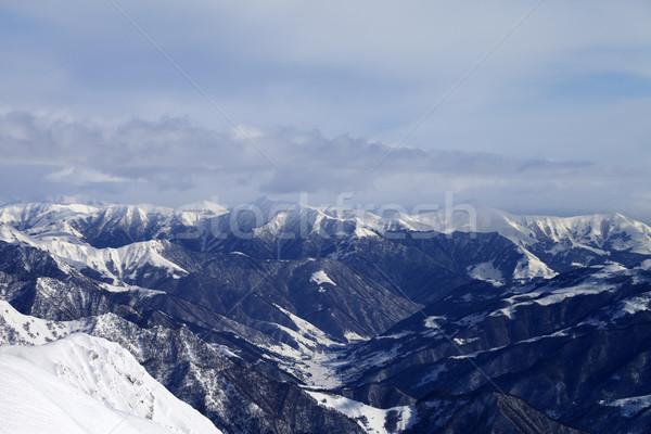 View from ski resort Stock photo © BSANI