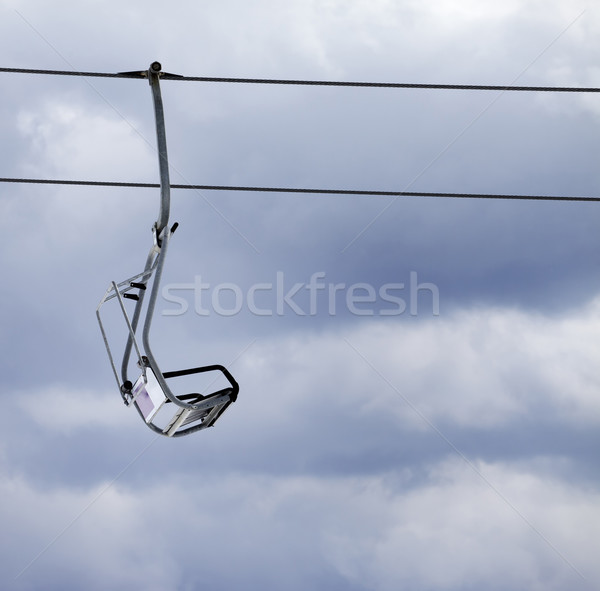 Chair lift and overcast gray sky Stock photo © BSANI