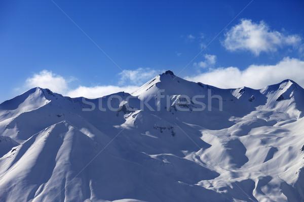 Snowy sunlight mountains Stock photo © BSANI