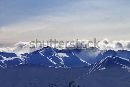 Off-piste slope at nice sunny day Stock photo © BSANI
