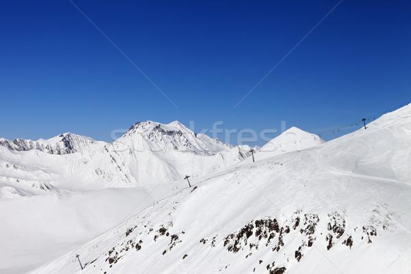 Ski slope and ropeway. Caucasus Mountains, Georgia. Stock photo © BSANI