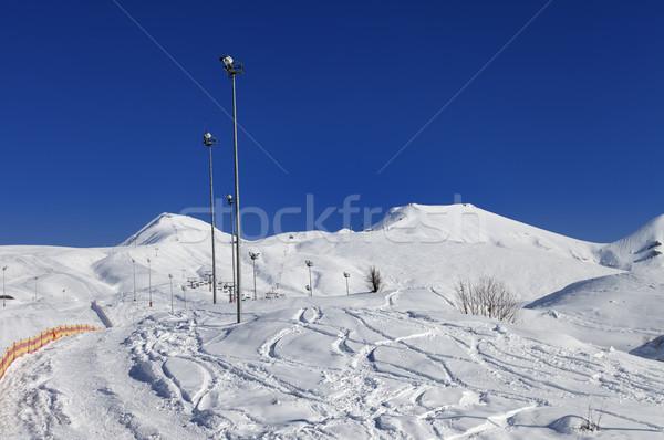 Inverno montanhas bom sol dia Foto stock © BSANI