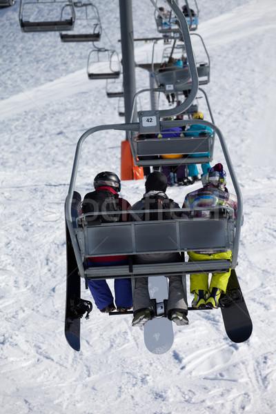 Kaukázus hegyek Grúzia sí üdülőhely sport Stock fotó © BSANI