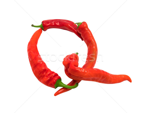 Letter Q composed of chili peppers Stock photo © BSANI