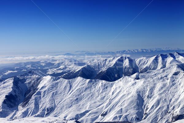 зима гор солнце утра Кавказ Грузия Сток-фото © BSANI