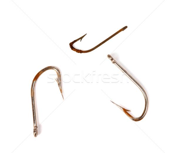 Three rusty old fishhook Stock photo © BSANI