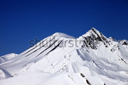 Panorama of winter mountains. Caucasus Mountains, Georgia. Stock photo © BSANI