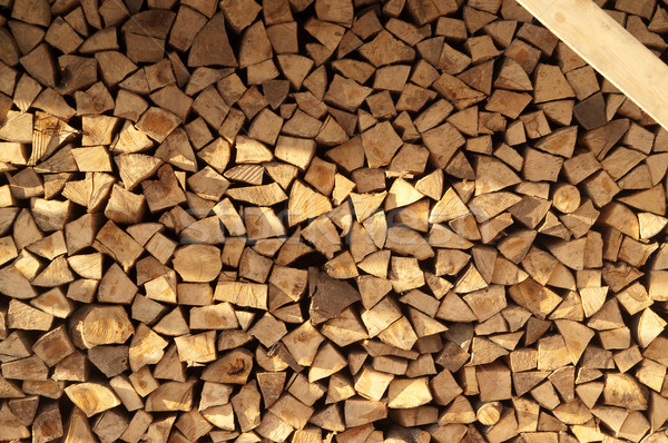 Firewood background with copyspace Stock photo © BSANI