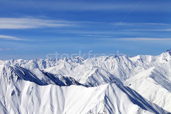 Winter bergen mooie dag kaukasus Georgië Stockfoto © BSANI