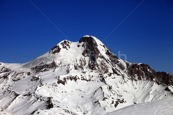 Mount Kazbek at nice winter day Stock photo © BSANI