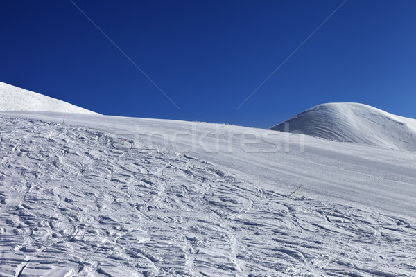 Ski slope and blue clear sky in nice day Stock photo © BSANI