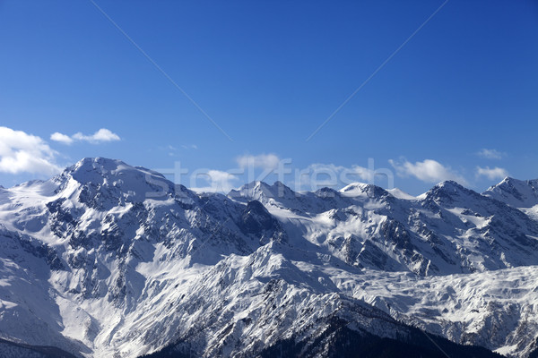 View on snowy mountains in nice sunny day Stock photo © BSANI