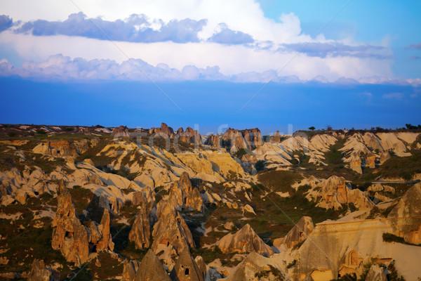 View of sunset Cappadocia valley Stock photo © BSANI
