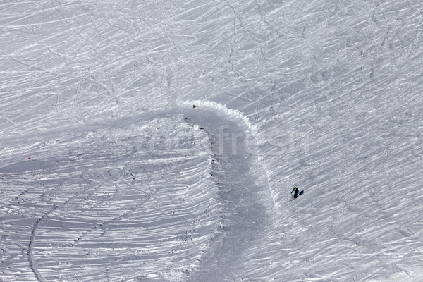 Skier on off-piste slope in sun day Stock photo © BSANI