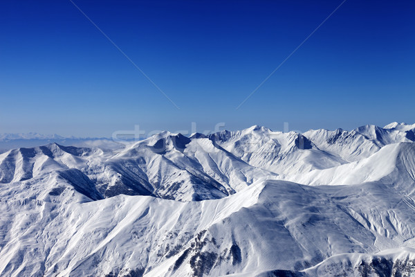 Winter snowy mountains at nice sun day Stock photo © BSANI