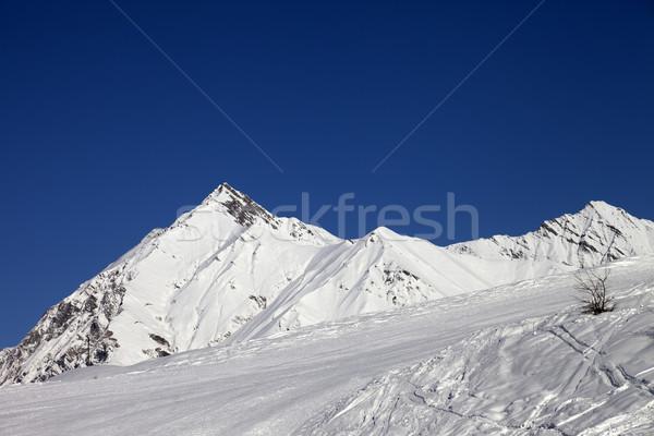 Mavi açık gökyüzü güzel gün kafkaslar Stok fotoğraf © BSANI