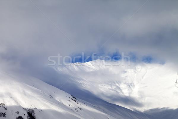 Görmek buğu kafkaslar dağlar Georgia Stok fotoğraf © BSANI
