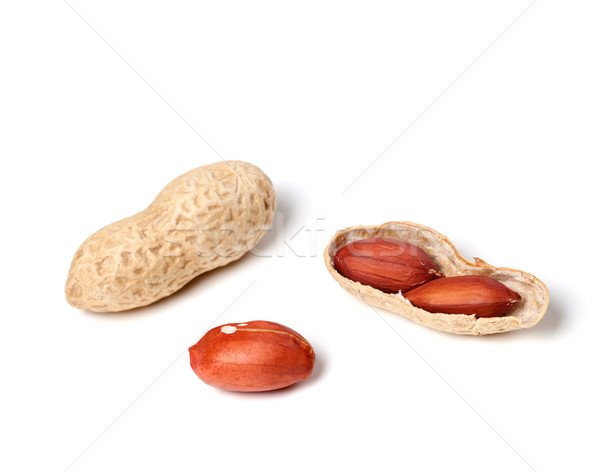 Peanuts on a white background Stock photo © BSANI