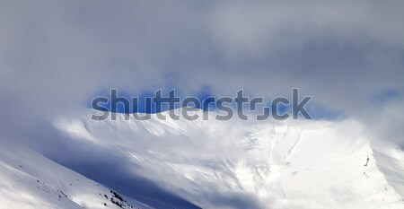 Panoramic view on off-piste slope in mist Stock photo © BSANI