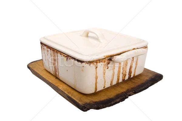 Sucia cerámica estufa edad cocina Foto stock © BSANI
