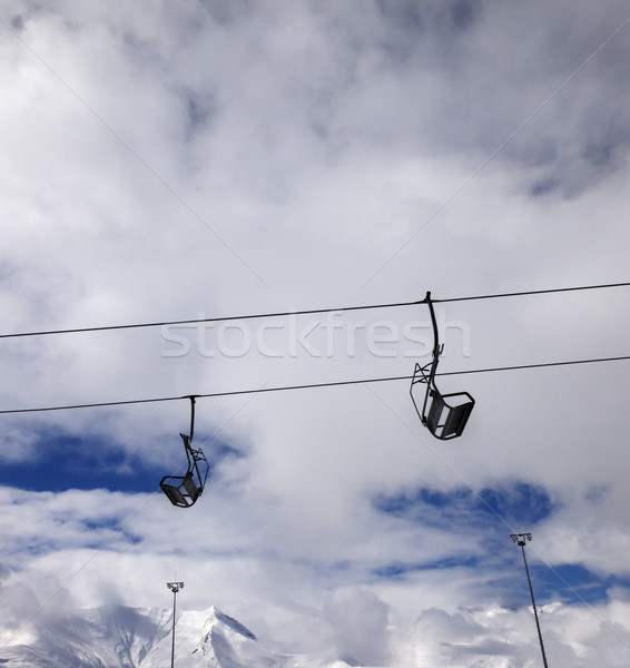 Chair-lift wide-angle view Stock photo © BSANI