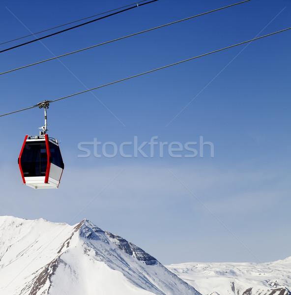 Gondol asansör dağlar Kayak başvurmak Georgia Stok fotoğraf © BSANI