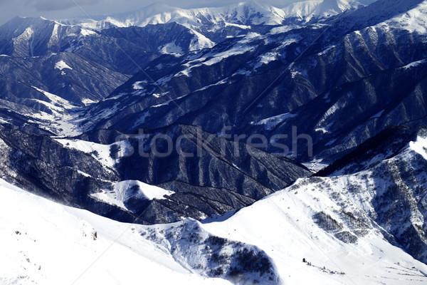 Top мнение склон Кавказ гор Грузия Сток-фото © BSANI