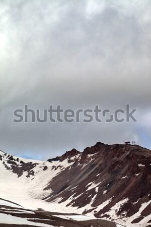 Spring mountains with snow before rain Stock photo © BSANI