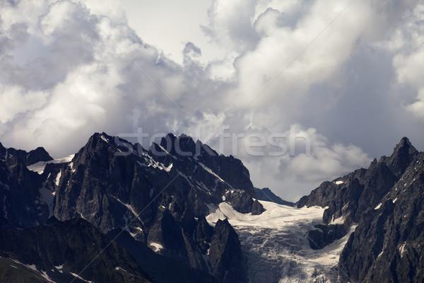山 雲 雨 コーカサス グルジア 地域 ストックフォト © BSANI