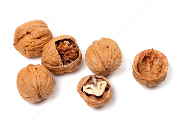 Walnuts on white background Stock photo © BSANI