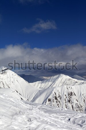 Snowy mountains. Stock photo © BSANI