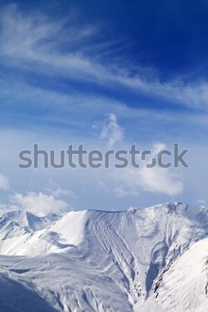 View on off-piste snowy slope Stock photo © BSANI