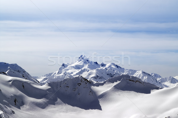 Snowy winter mountains. Caucasus Mountains Stock photo © BSANI
