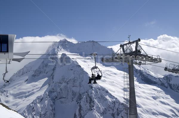 Ropeway. Ski resort. Stock photo © BSANI